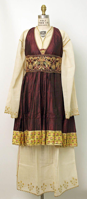 Greek Folk Costume (19th Century)..