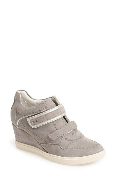 Geox 'Eleni 11' Suede Wedge Sneaker (Women) available at #Nordstrom