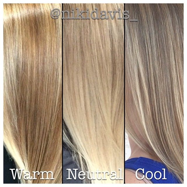 No blonde is one size fits all. This shows cool neutral and warm tones. Hair by @NIKIDAVIS_ AT FRANGIPANI HAIR STUDIO IN JACKSONVILLE BEACH, FL.