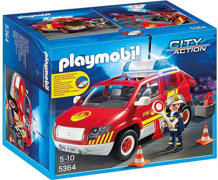 Playmobil Polis, Brandmästarens bil med lampor och ljud