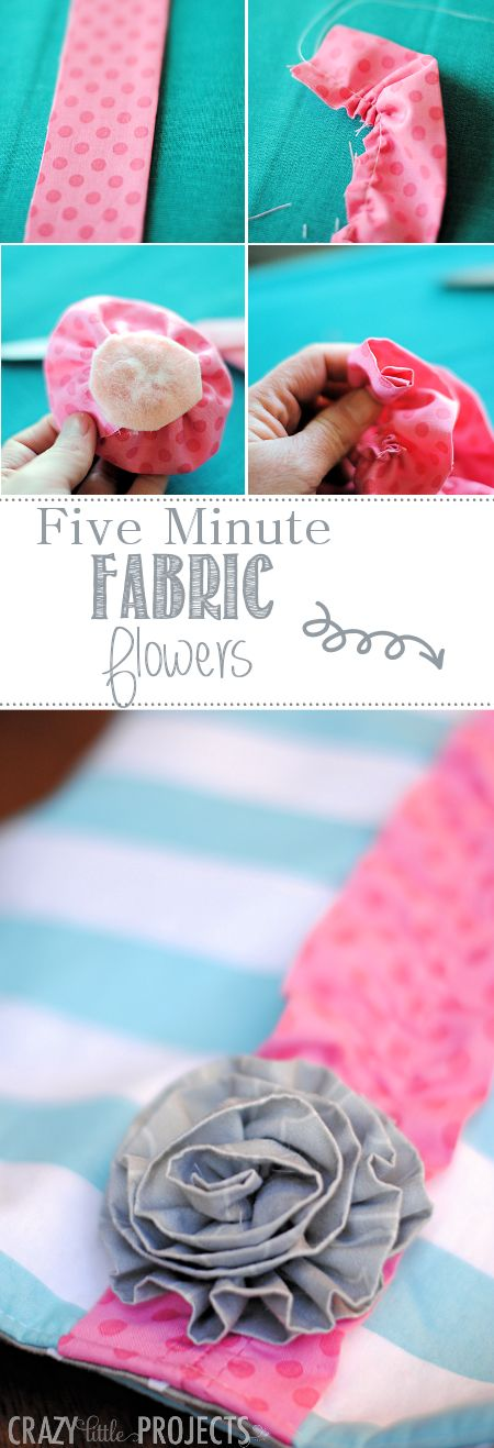 These fabric flowers are so easy to make!