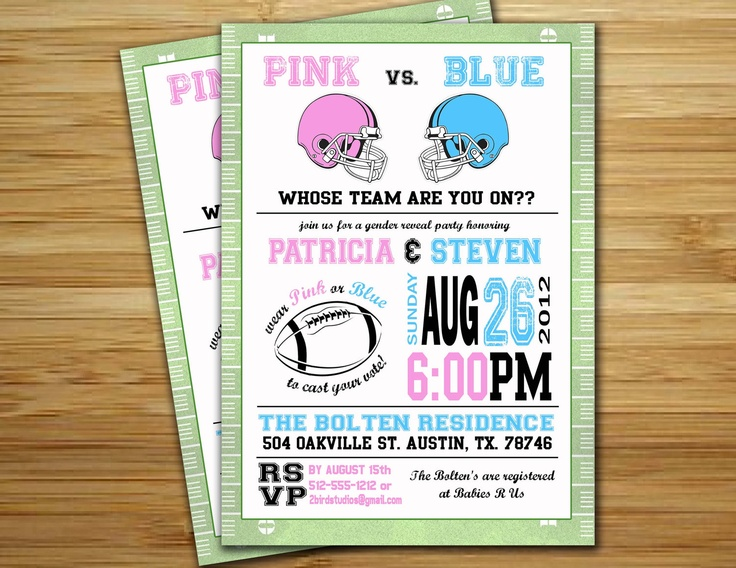 138 best images about baby gender reveal party on pinterest | bee, Baby shower invitations