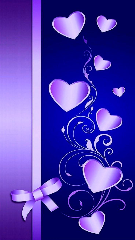 обои на телефон красивые фиолетовые сердечки развивались модели мировых