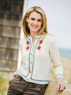 "cream flower cardigan from ""better homes and gardens""  http://www.bhg.com/crafts/knitting/wearables/cream-flower-cardigan/?sssdmh=dm17.587572&esrc=nwcu032012&email=3133671430"
