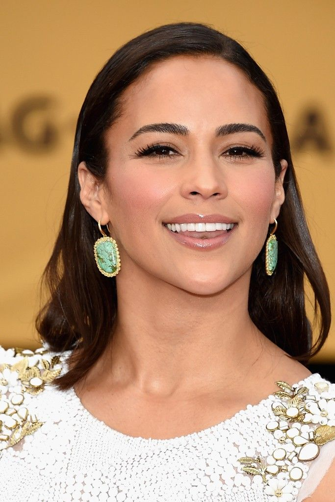 Paula Patton wearing Kimberly McDonald earrings.