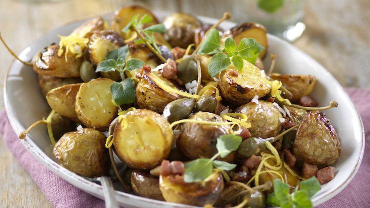 Lättlagad potatis i ugn som passar till kyckling, lamm och lax!