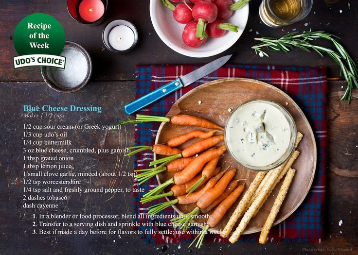 One more Udo's Oil ‪#‎recipe‬ just in time for the holidays! If you are a fan of blue cheese, you will love this delicious dressing - add another ounce of blue cheese to thicken it up a bit and serve as a dip. Happy holidays! #goodfats #udosoil