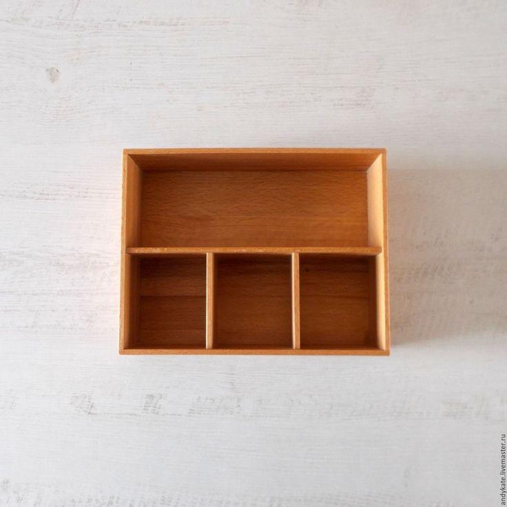 Купить Деревянная коробочка-органайзер из бука или дуба - коробочка для мелочей, коробочка для хранения