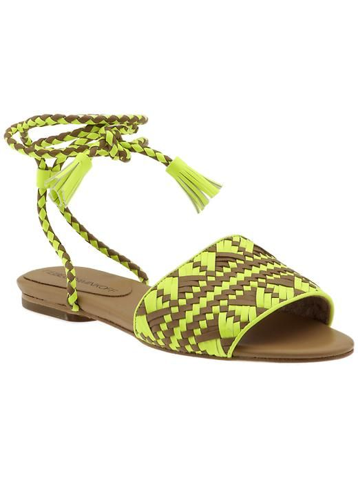 Rock these neon tribal sandals all summer long. Rebecca Minkoff www.piperlime.com