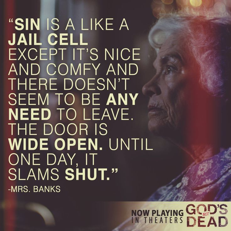 God's Not Dead - Now playing in theaters - Pure Flix - Christian Movies - #PureFlix #Sin #ChristianMovies www.PureFlix.com www.GodsNotDead.com