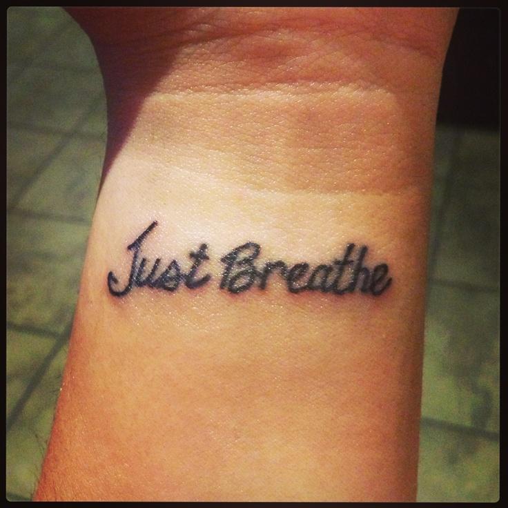 First tattoo inlove justbreathe ink tattoo tattoos