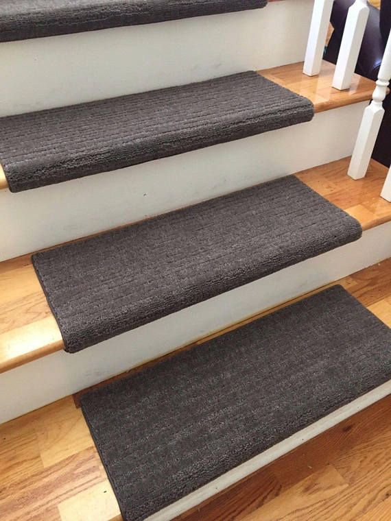 RiverRock Dark Brown 100% New Zealand Wool! TRUE Bullnose™ Carpet Stair  Tread Runner Replacement For Style, Comfort U0026 Safety (Sold Each)