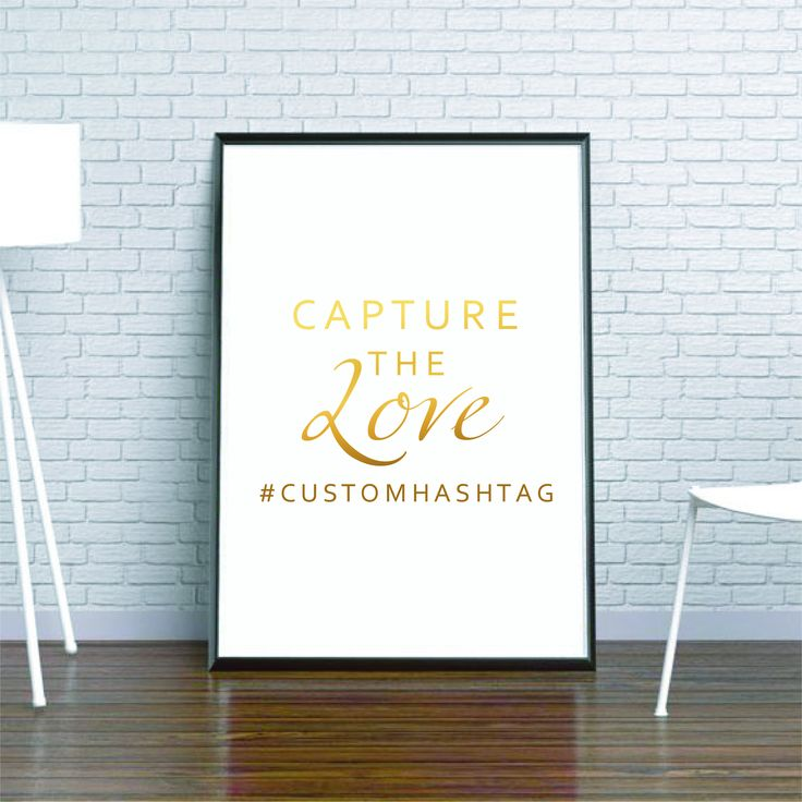 Custom Wedding Sign Custom Hastag Real Gold Foil Vinyl Large Gold Foil Print Silver Foil Vinyl Decal Personalized Wedding Signage Decor by FixateDesigns on Etsy