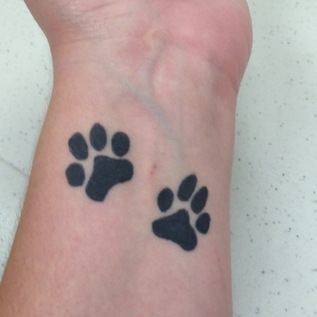 Paw Print Tattoos For Girls: Paw Tattoos And Tattoos And Body Art On Pinterest