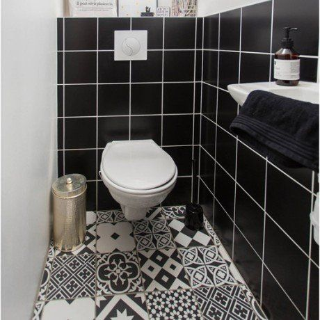 62 best WC images on Pinterest Bathroom, Small shower room and - meuble pour wc suspendu leroy merlin
