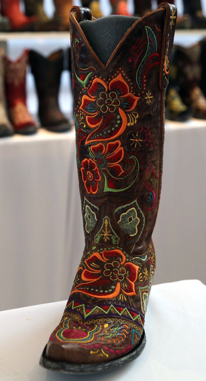 Rivertrail Mercantile - #OldGringo #Olivia #Brass #Leather #Handmade #Embroidered #western #cowgirl #fashion #Boots L1629-3