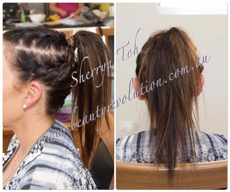 braiding with high ponytail