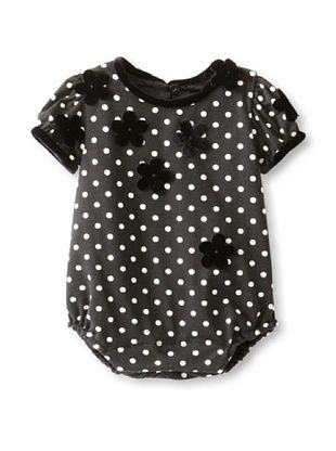 61% OFF Isabel Garreton Kid's Romper with Applique (Ivory Dot)