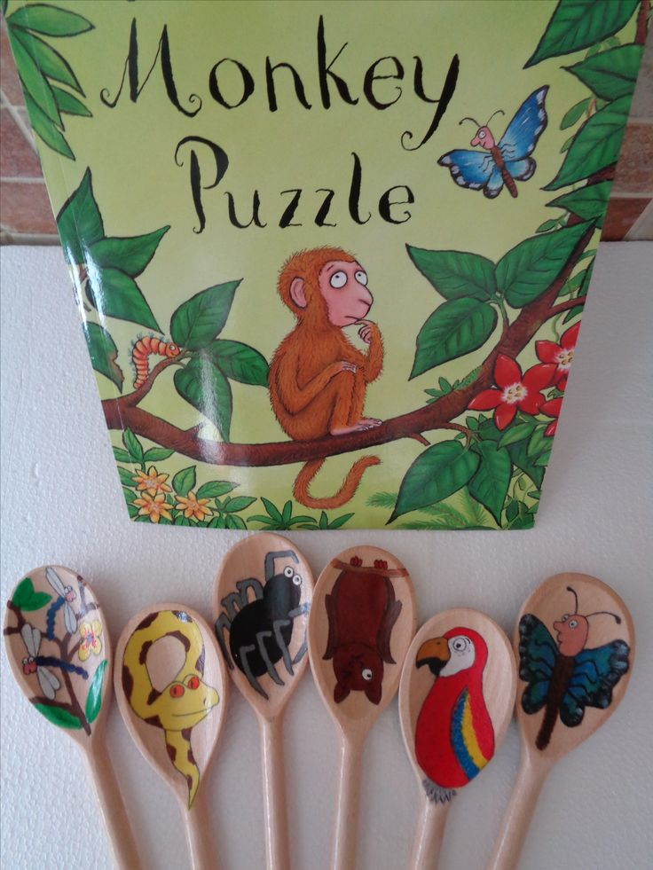 Monkey Puzzle Story Spoons