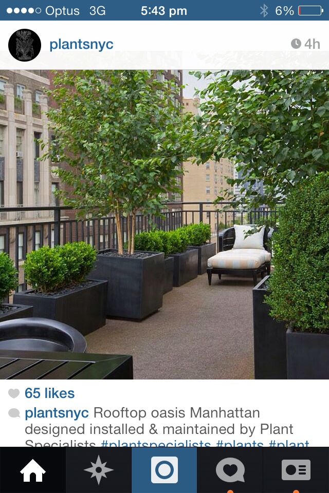 Rooftop planters