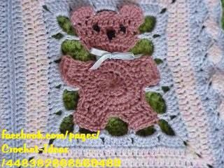teddy bear crochet blanket 1.. Free pattern!