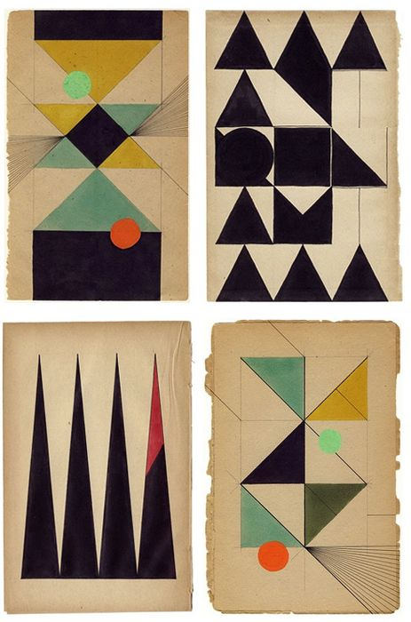 =: Books Pages, Paintings Art, Geometric Prints And Patterns, Artists, Triangles, Colors, Graphics Design, Geometric Shape, Louis Reith
