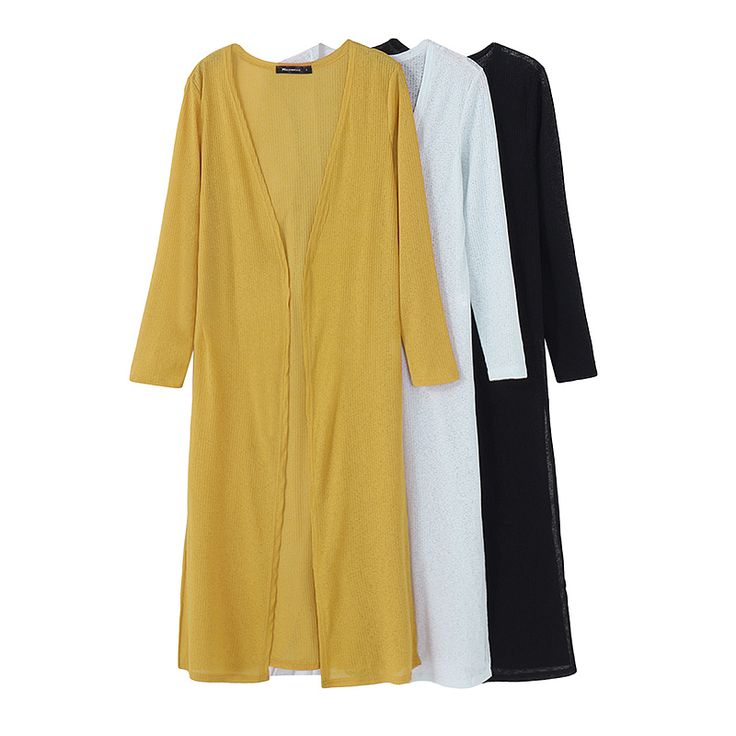 S-5XL Casual Women Knitted Long Maxi Cardigans