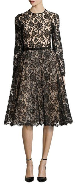 Michael Kors Black Nude Chantilly Long Night Out Dress Size 4 (S). Free shipping and guaranteed authenticity on Michael Kors Black Nude Chantilly Long Night Out Dress Size 4 (S)Michael Kors Chantilly Black Nude Lace Dress Fabri...
