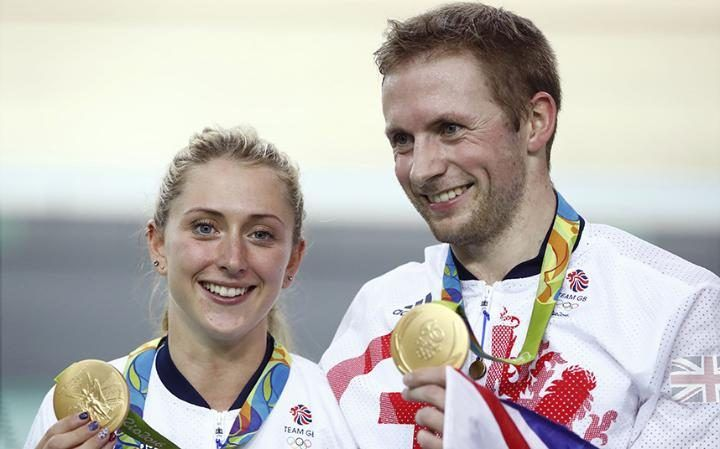 Laura Trott and Jason Kenny with part of their haul