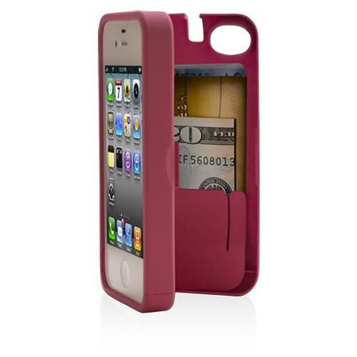 eyn iPhone 4(s) pink storage caseIphone Cases, Storage Spaces, Good Ideas, Iphone 4 4S, Credit Cards, Phones Cases, Pink, Iphonecases, Built In Storage