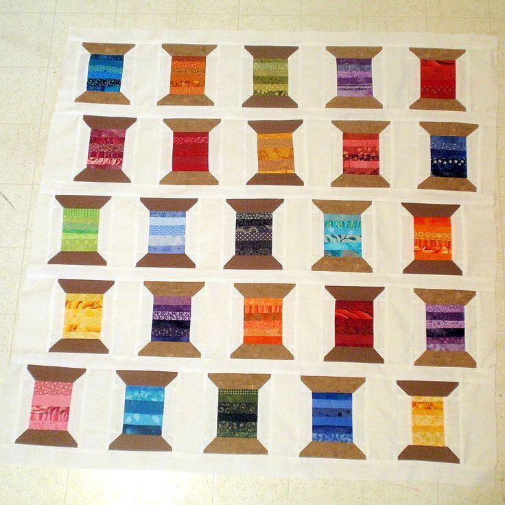 Spool quilt tutorial