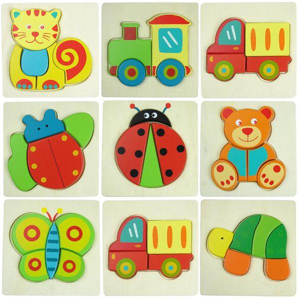 [Вступление] детские интеллект головоломки детские животные деревянные фрукты деревянные головоломки дети 2-3 лет