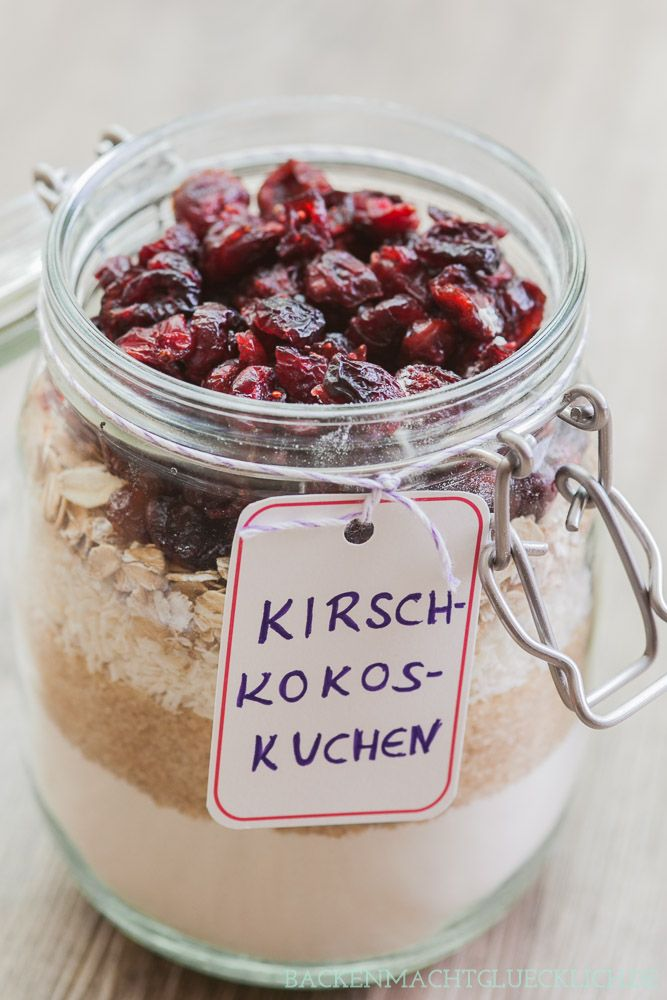 Backen macht glücklich | Kuchen-Backmischung im Glas: Ein Rezept, viele…