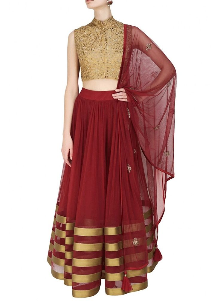 Precise attractiveness will come out from your dressing trend with this Maroon Net Readymade Lehenga Choli. Beautified & stylized with Lace work to give you an attractive look.  #latestdesign #lushika #wedding #collections #india #lehenga #cholis #sareeshopping #online #usa #canada #australia