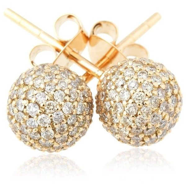 Loushelou Champagne Diamond Studs found on Polyvore featuring jewelry, earrings, accessories, rose, pave earrings, champagne jewelry, rose earrings, stud earrings and diamond jewellery