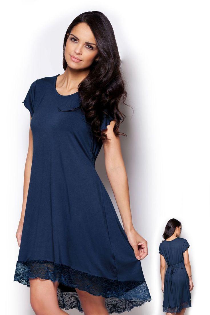 Dámská noční košile s krajkou #chemise #nočníkošile #nightgown #viskoza