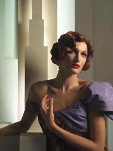 By Eugenio Recuenco. The photographer was clearly inspired by Tara de Lempicka's portraiture for this series.