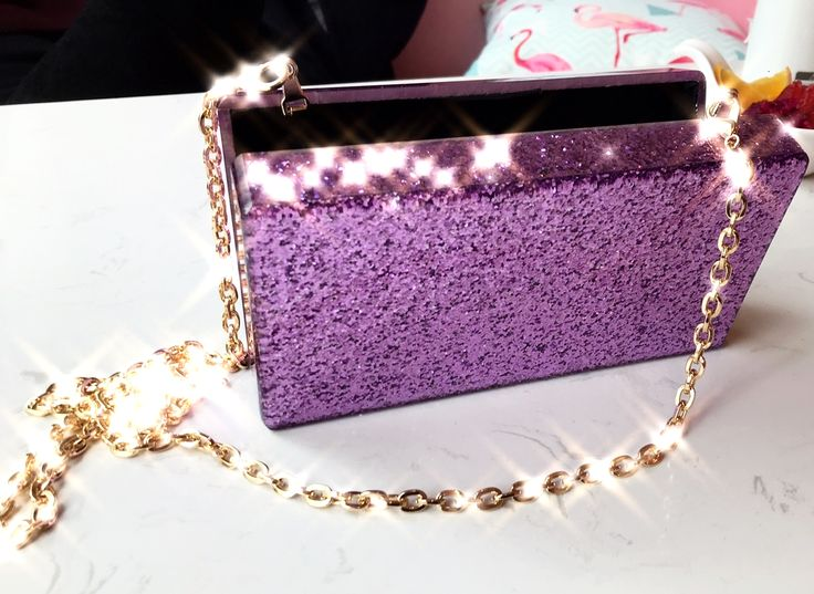 Purple Glitter Acrylic Box Clutch  #Milanblocks #womenwear #Gift #Love #celebritystyle #AcrylicClutch #Bloggerwant #DesignerClutch #Luciteclutch #Instagood