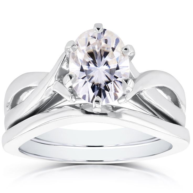 Moissanite solitaire Engagement and Bridal Rings for Your Wedding Day