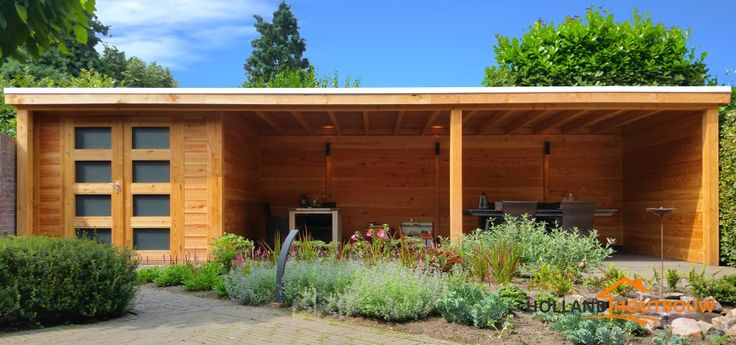 veranda terrasoverkapping met berging schuur en dubbele deur