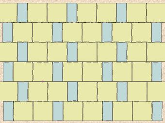 alternating coursed pattern