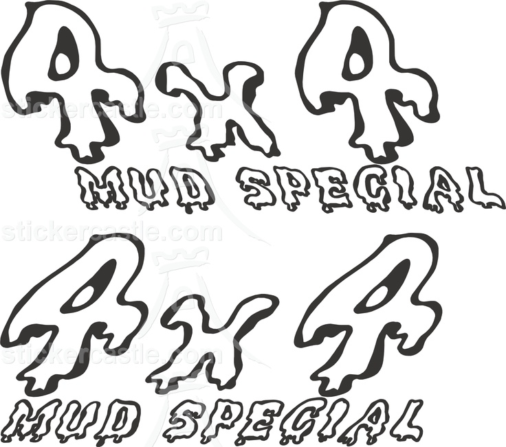 funny 4wd sticker - decal mud special