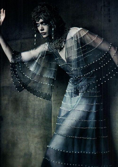 """the haute couture"" frida gustavsson by paolo roversi vogue italia 2011"