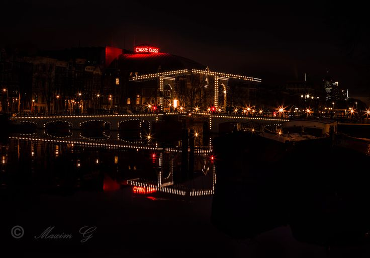 #amsterdam #magerebrug #bridge #river #amstel #maximg_photography #nightphotography #photography #architecture