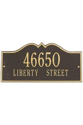 Hillsboro Two-Line Estate Wall Address Plaque - estate/two line, Copper by Home Decorators Collection. $215.00. Hillsboro Two-Line Estate Wall Address Plaque - It's Your Own Little Corner Of The World - So Why Not Mark It With Pride? A House Sign Announces A Message Of Distinction. These Premium, Textured And Dimensional Address Plaques Are Designed With Large Letters And Numbers For Maximum Visibility. Choose From Our Exceptional Array Of Custom Address Plaqu...