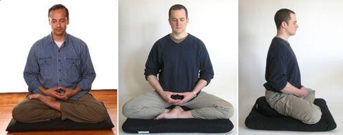 Types of meditation - Zazen posture