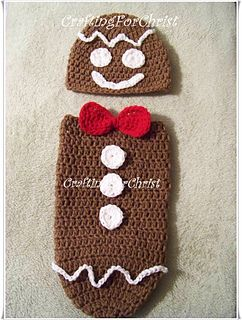Free B's Gingerbread Man Hat and Cocoon Crochet Pattern
