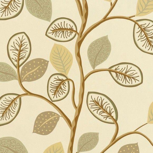 Papier peint forêt beige  Oxfordshire - Thibaut - Au fil des Couleurs