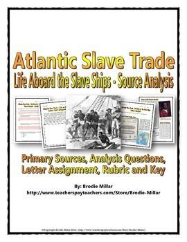 This 17 page Atlantic Slave Trade package includes engaging and informative sources (visual and text) related to what life was like for the slaves aboard the slave ships during the Atlantic Slave Trade. The sources truly capture the realities of the living conditions for the slaves that made the dangerous journey across the Atlantic (Middle Passage) during the Atlantic Slave Trade. The packages also includes a range of activities related to the sources.