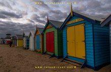 Brighton Beach Bathing Boxes, Melbourne, Victoria